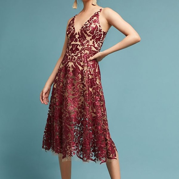Dress the Population Dresses & Skirts - NWT - Anthropologie Sequined Floral Dress